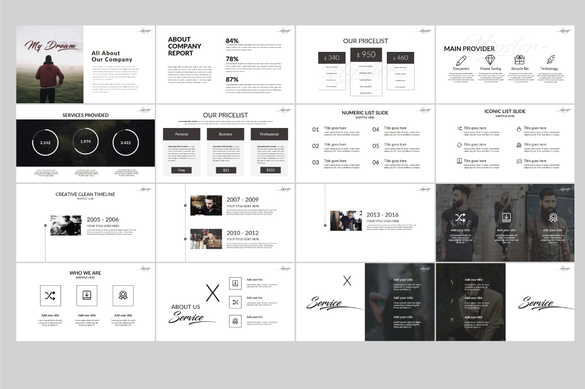 Hipster v.2 Powerpoint Template example image 4