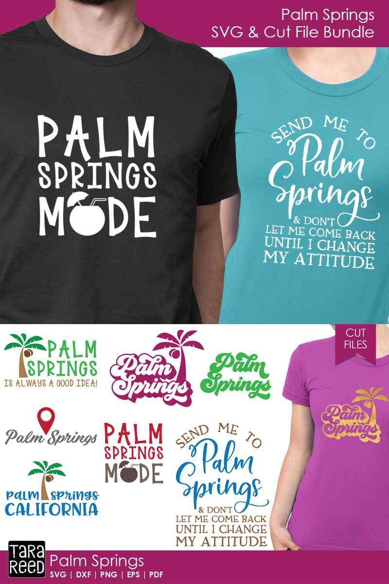 Palm Springs SVG and Cut Files for Crafters example image 2