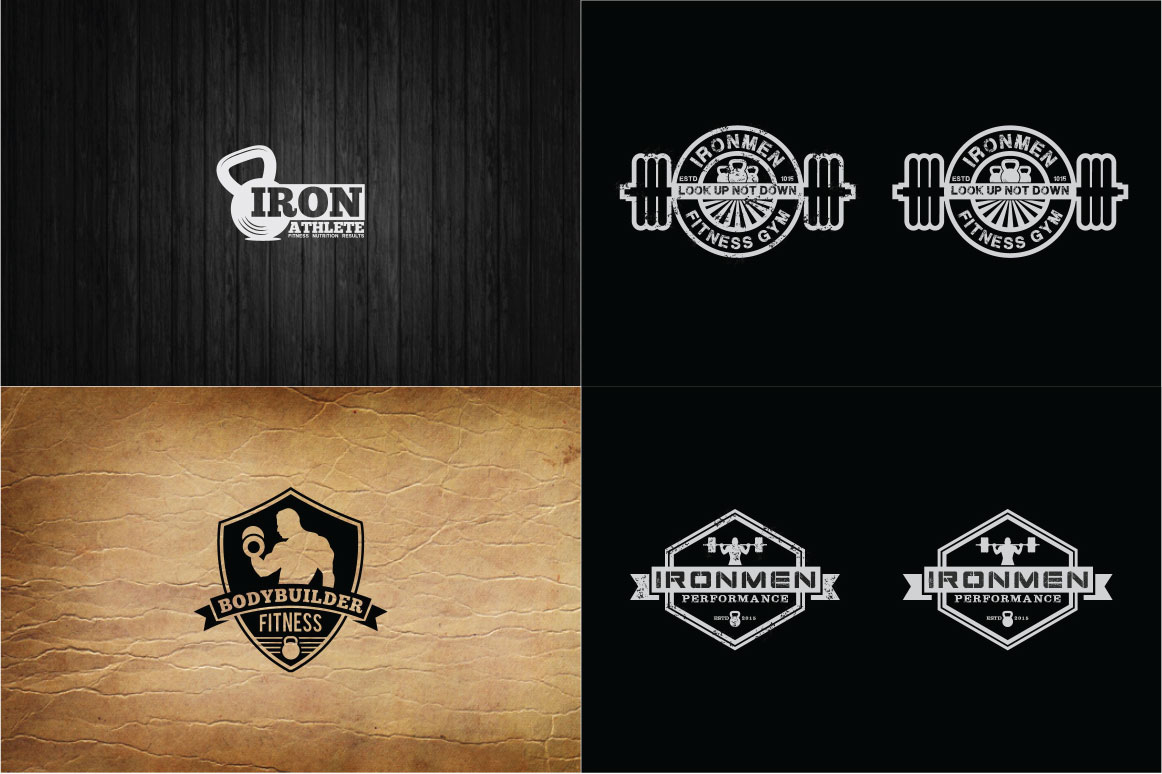 83 fitness gym bundle Logos Labels & Badges example image 17