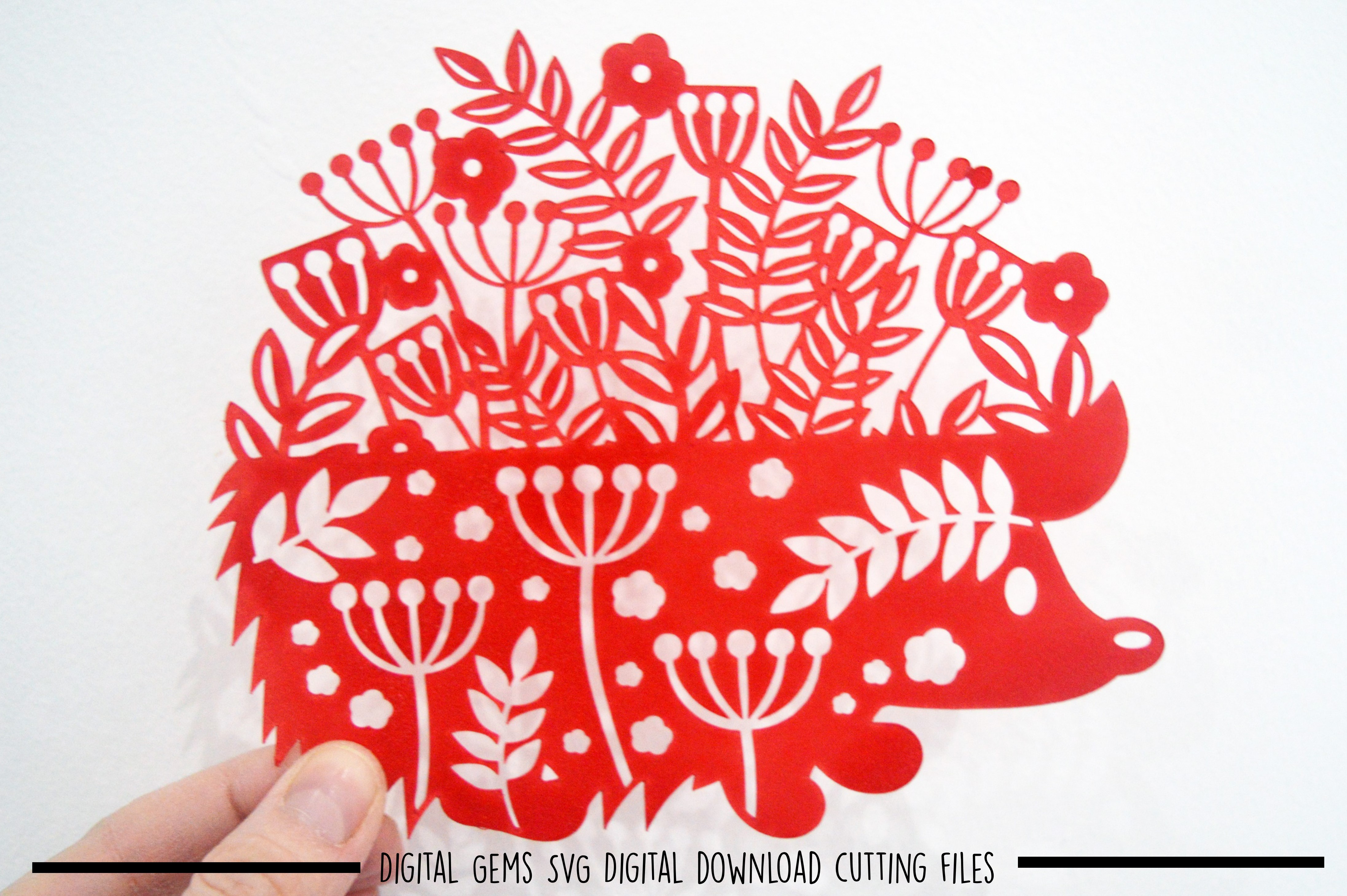 Hedgehog paper cut SVG / DXF / EPS files example image 2