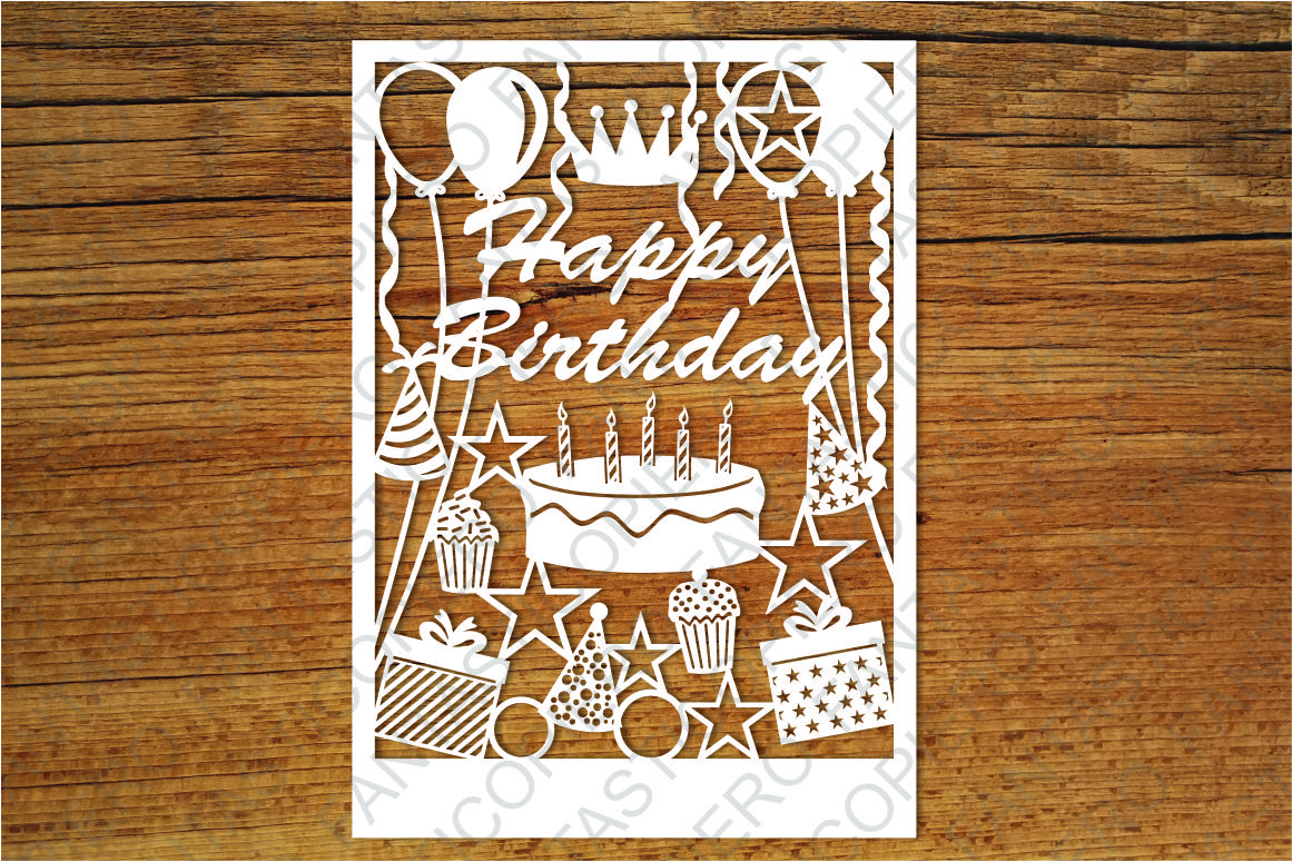 Download Happy Birthday card SVG files for Silhouette and Cricut ...