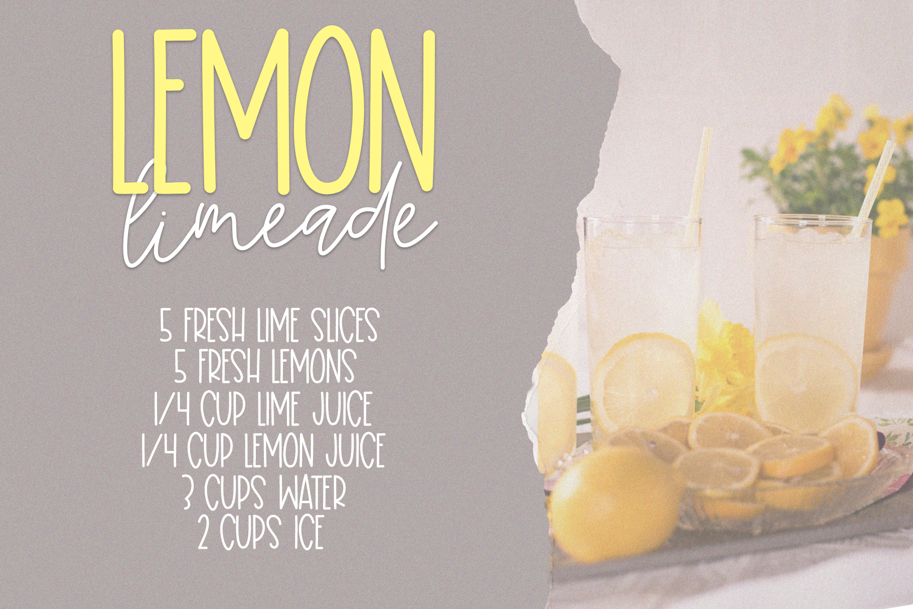 Lemon Lime - A Print/Script Handwritten Font Duo example image 4