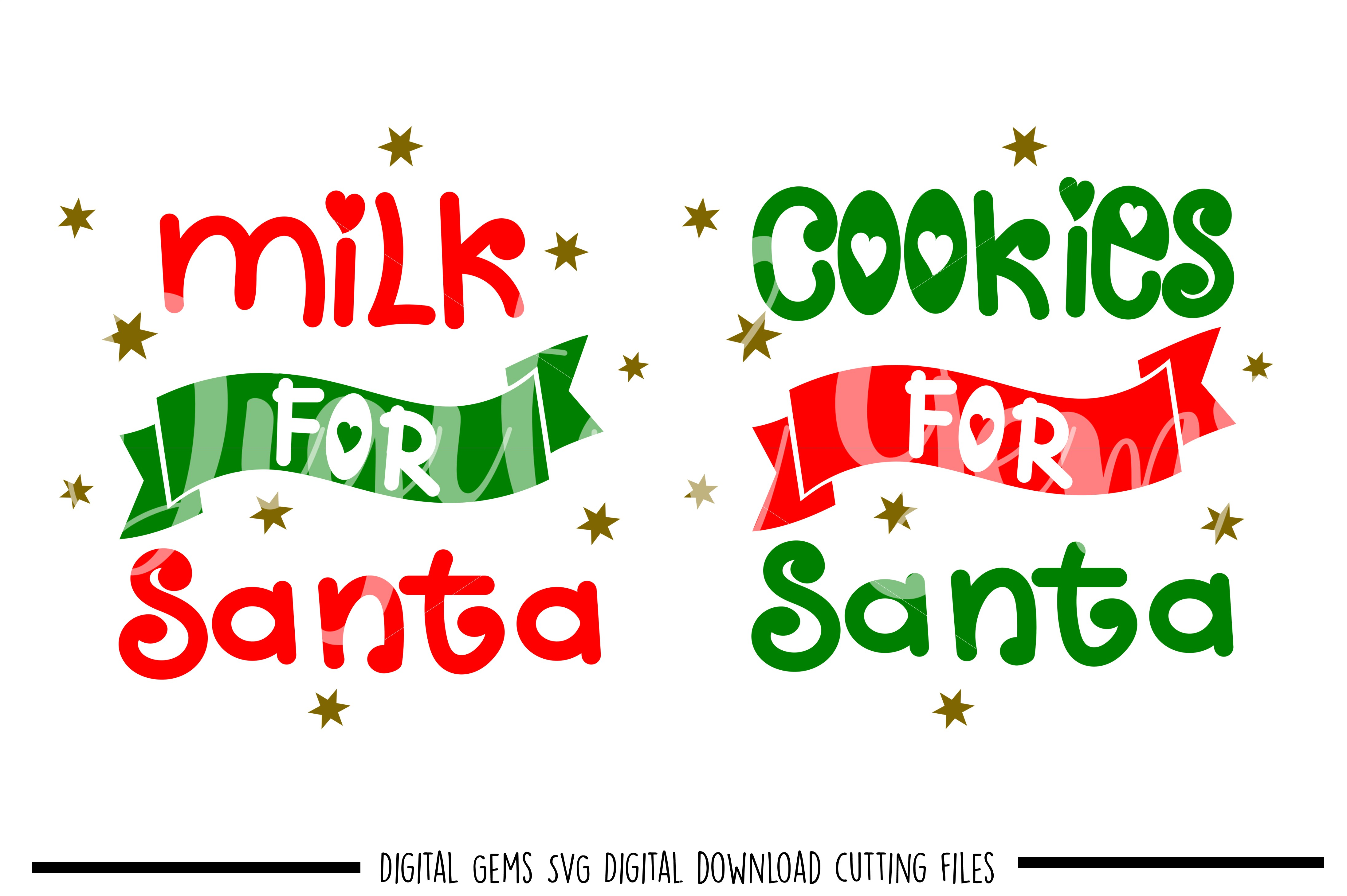 Cookies And Milk For Santa Svg Dxf Eps Png Files 43991 Svgs Design Bundles