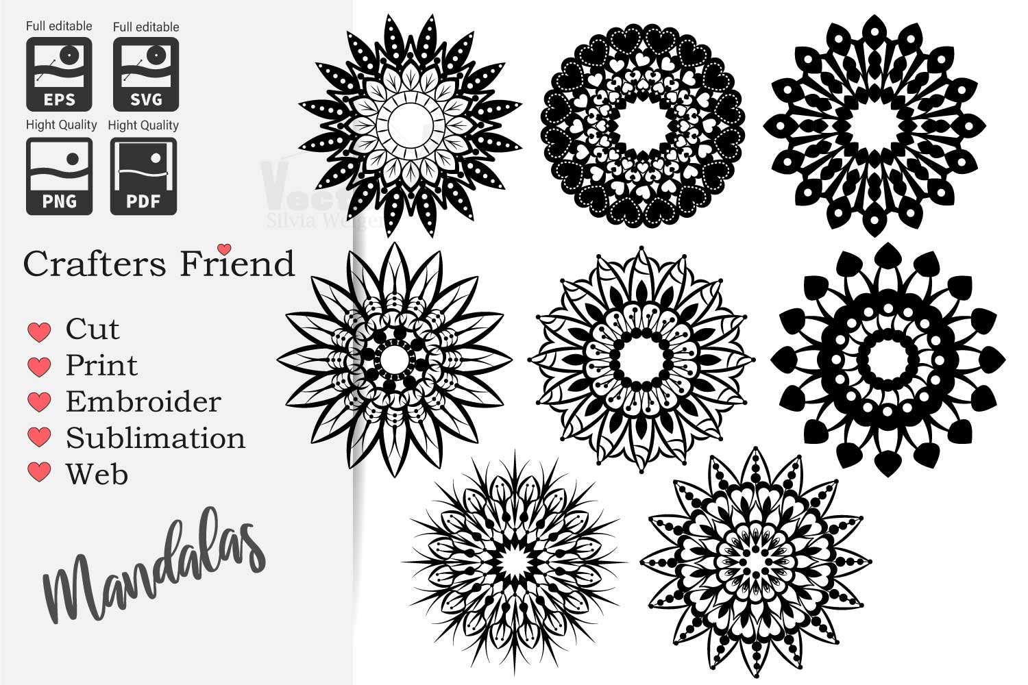 Mandalas SVG - Cut Files for Beginners example image 1
