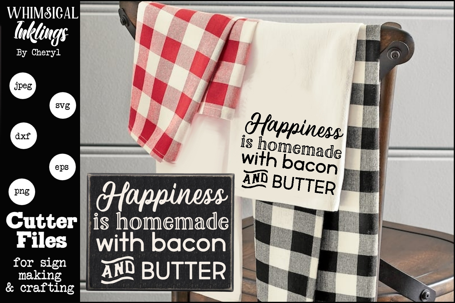 Bacon and Butter SVG example image 1
