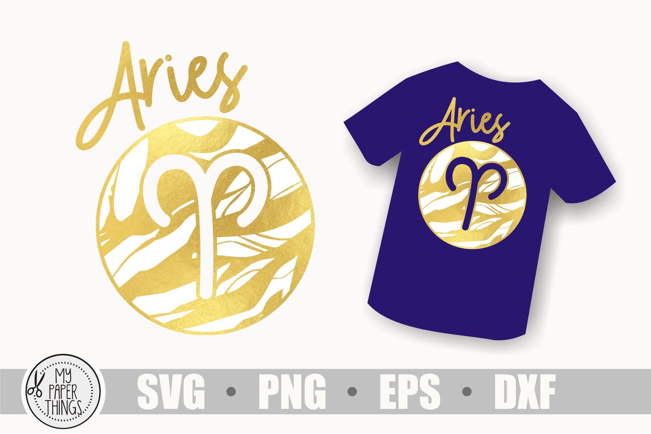 Aries svg bundle, Birthday svg, Zodiac sign example image 2