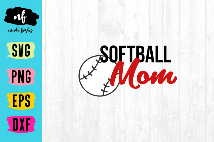 Softball Mom SVG Cut File example image 1