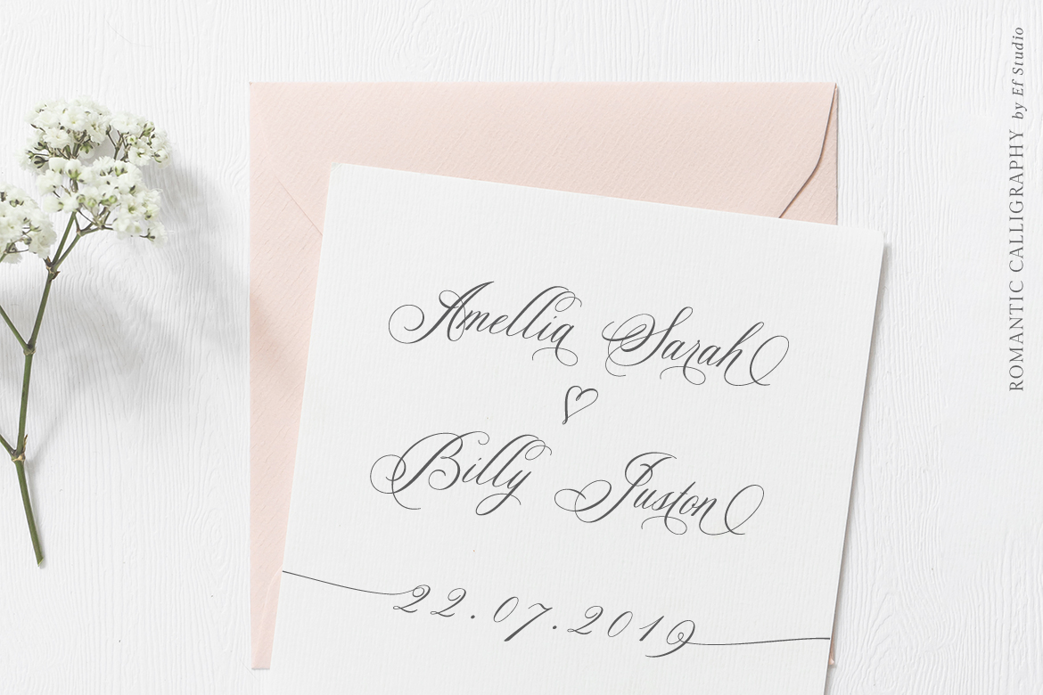 Glaston Romantic Calligraphy example image 4