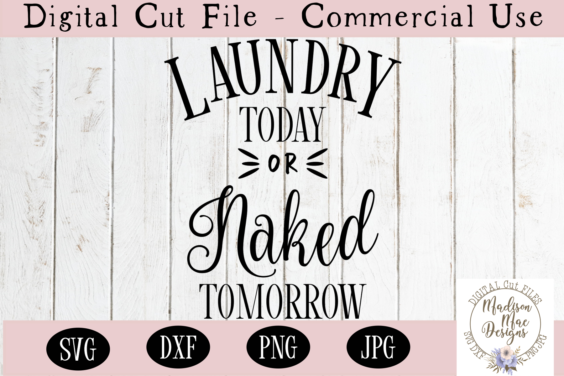 Laundry today or naked tomorrow, SVG, DXF, PNG