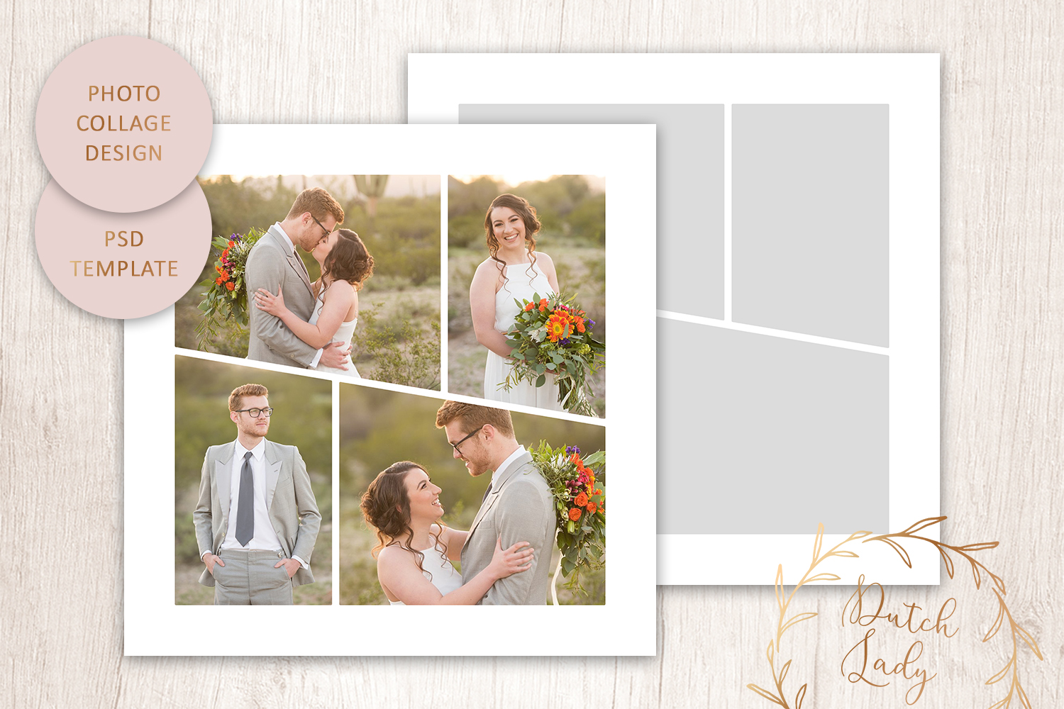 PSD Photo & Image Collage Template #5 example image 1