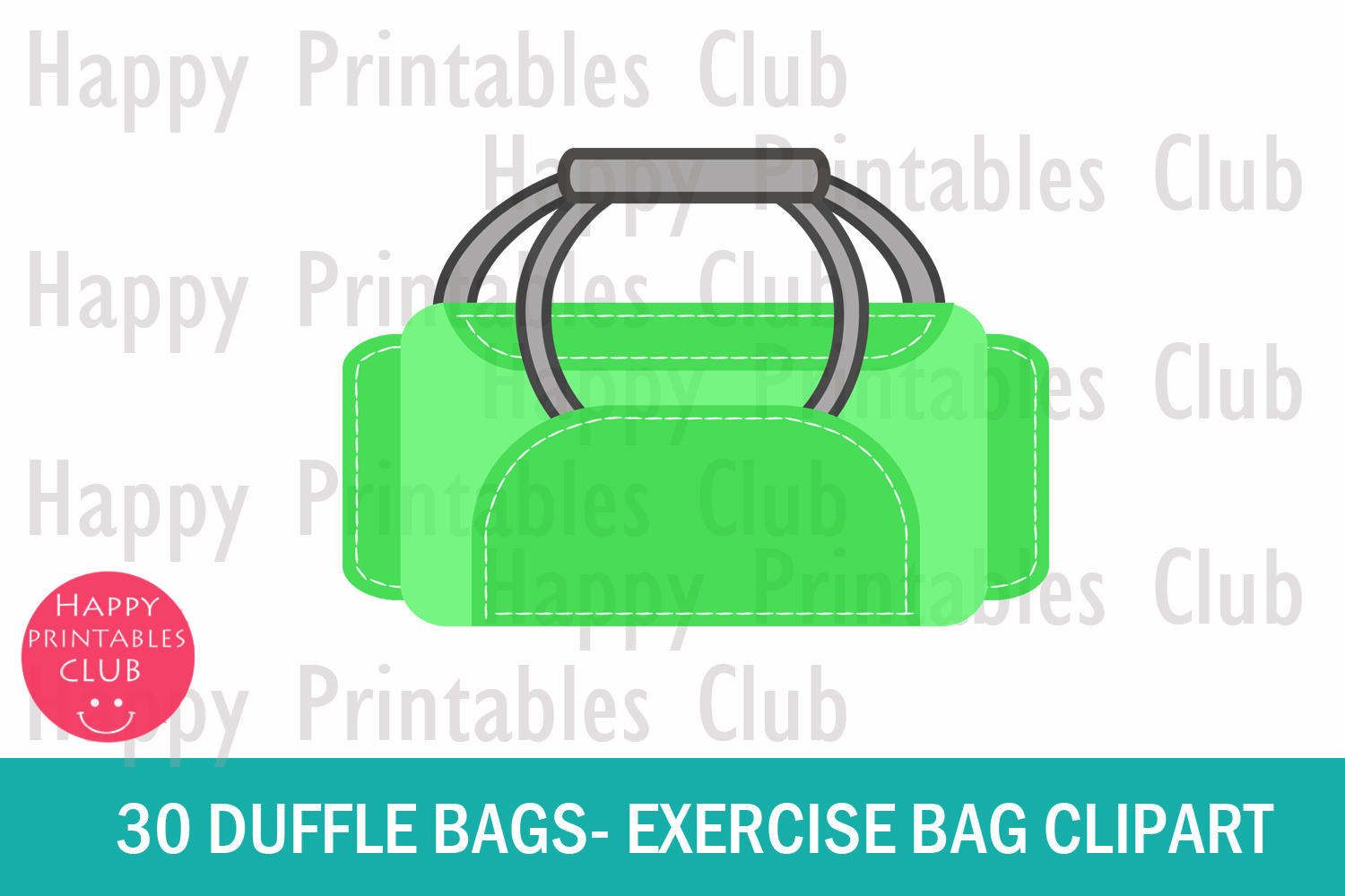 409e0c33a9 30 Duffle Bags Clipart- Exercise Bag Clipart-Gym Bag Clipart example image 2