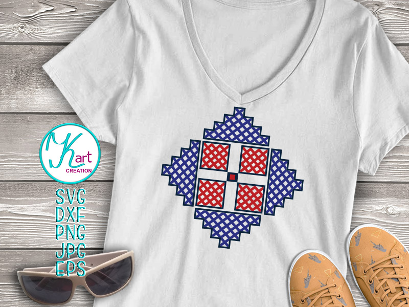 Cross Barn Quilt Ornament Cutting Printable File example image 3