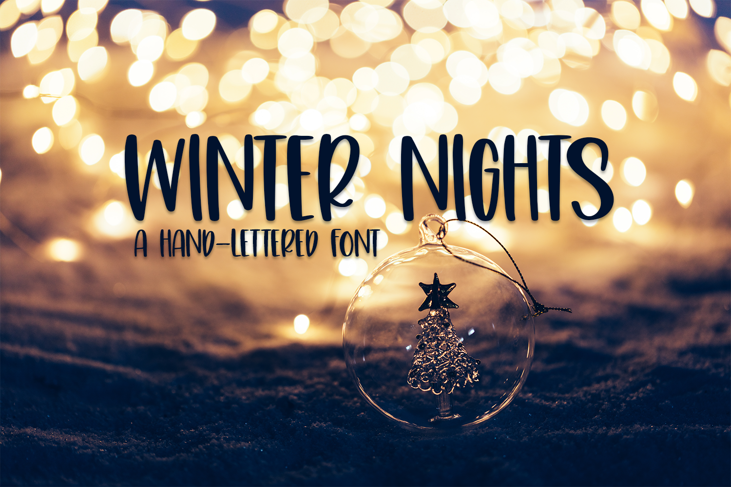 Winter Nights - A Cute Hand-Lettered Font example image 1