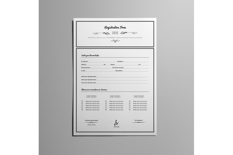Registration Form Template v10 example image 4