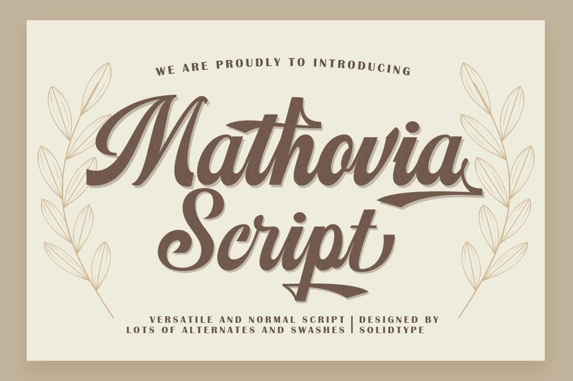 Mathovia Script example image 7