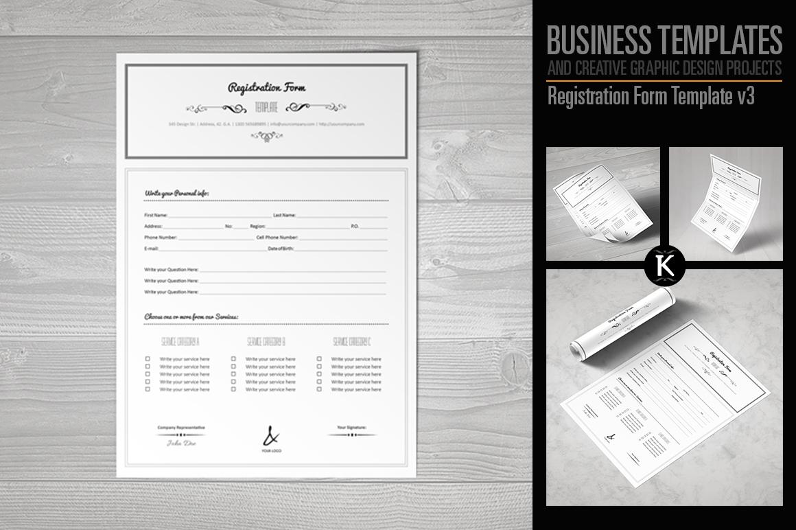 Registration Form Template v3 example image 1