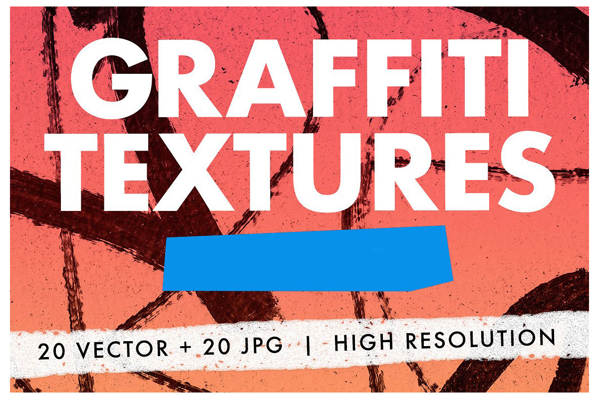 20 Graffiti Textures - Vector & JPG example image 1