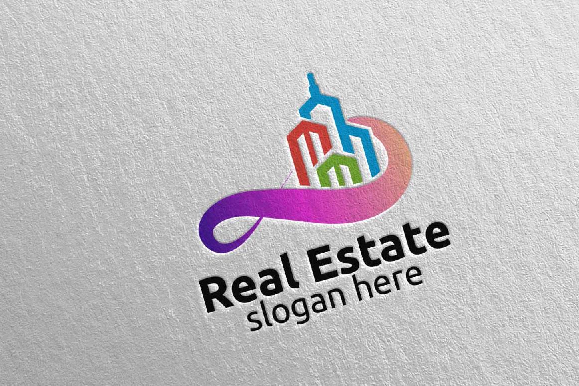 Real Estate Infinity Logo Design 39 example image 1