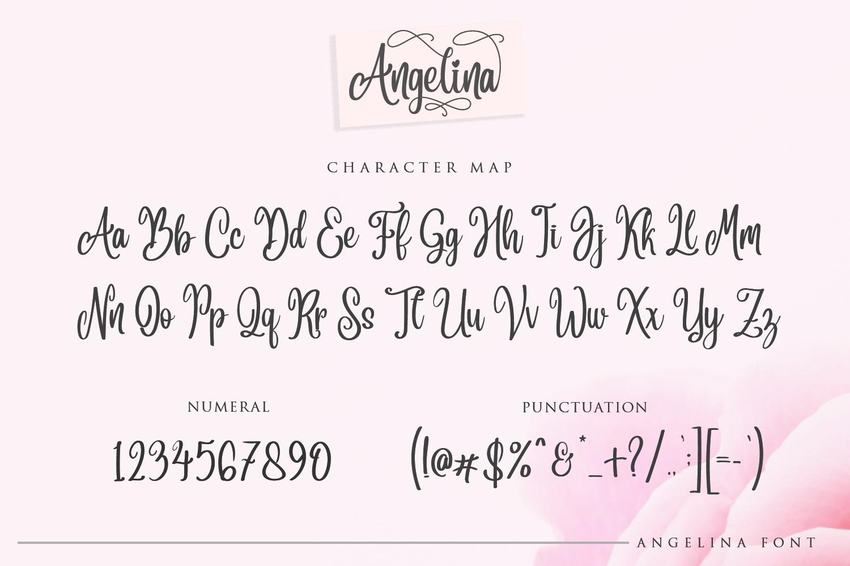 Angelina Script- Beautiful Handwritten example image 8