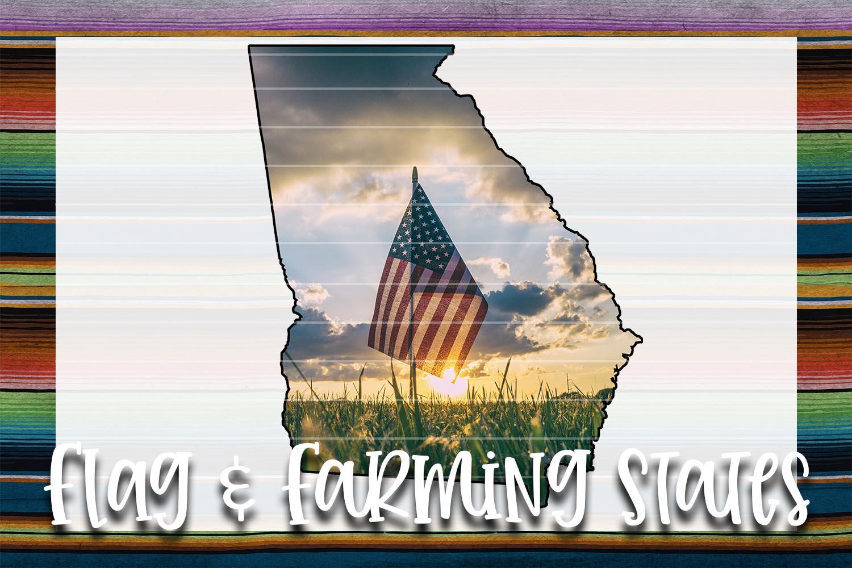 Flag & Farm GA Sublimation Digital Download example image 1
