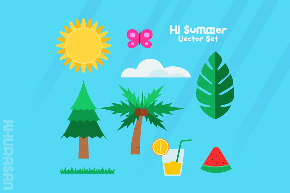 Hi Summer Layered Font example image 4