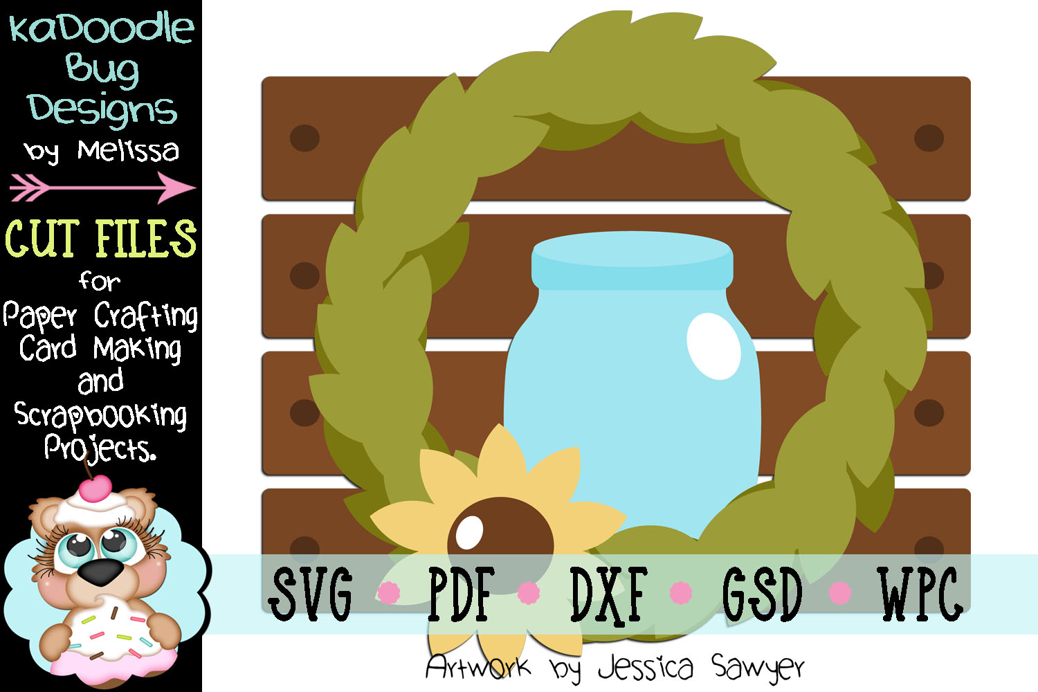 Country Living Decor Cut File - SVG PDF DXF GSD WPC example image 1