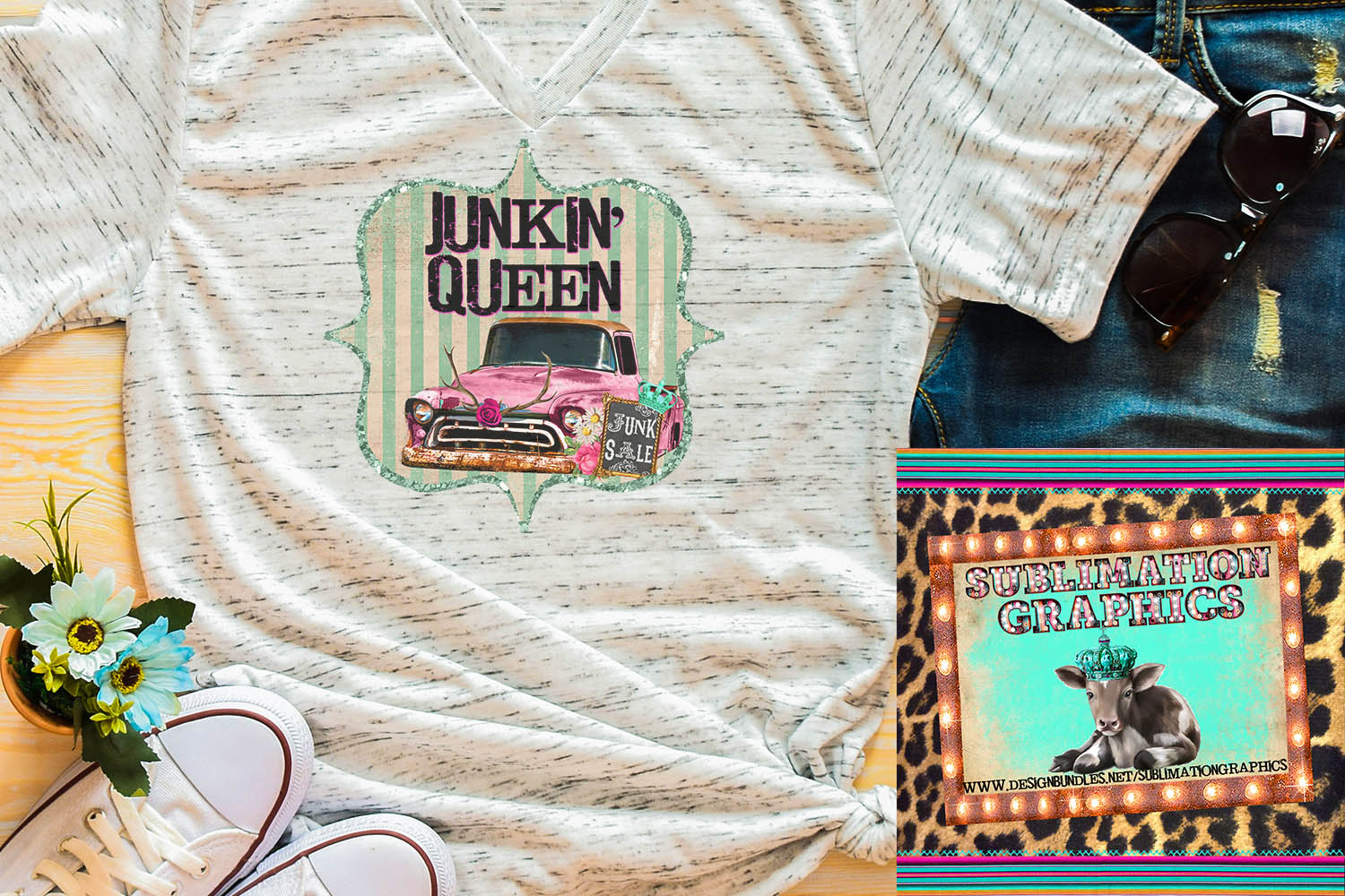 Junkin' Queen Sublimation Digital Download example image 1