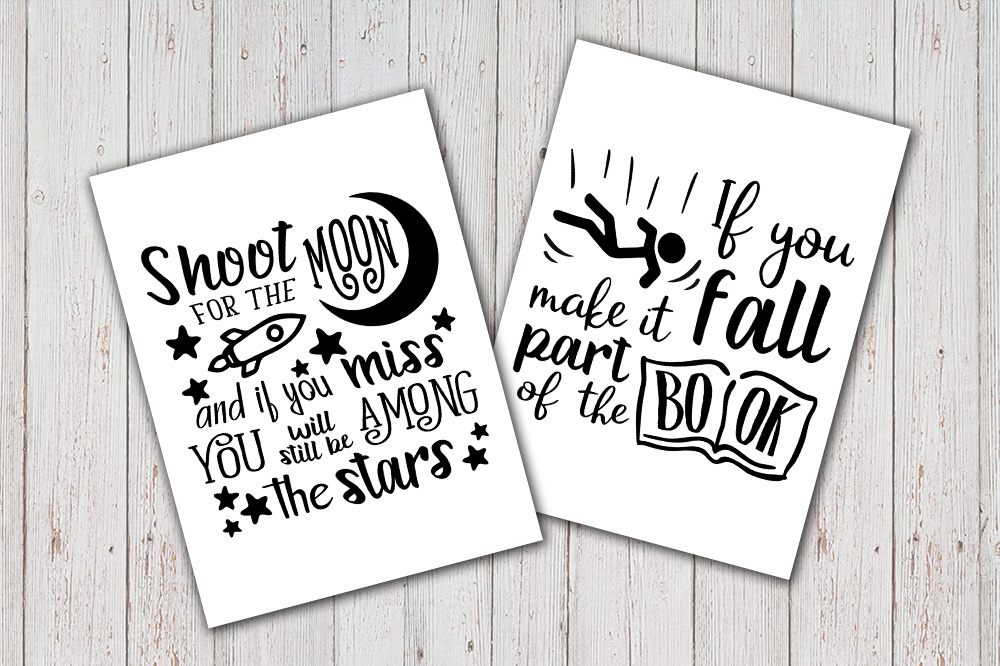8 Hand Lettered motivation quotes bundle svg example image 3