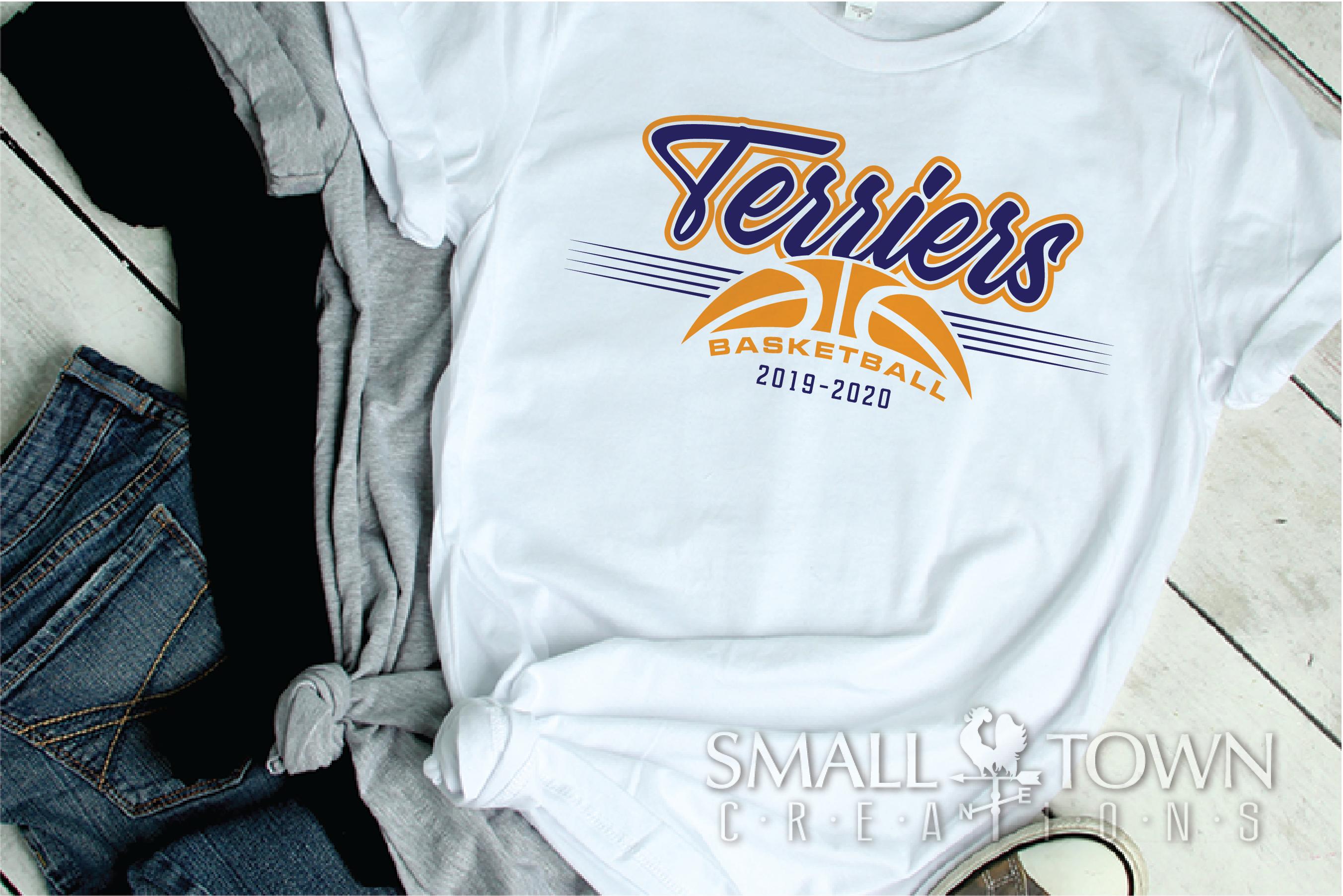 Terrier, Basketball, Sport, Team, Logo, PRINT, CUT, DESIGN example image 2