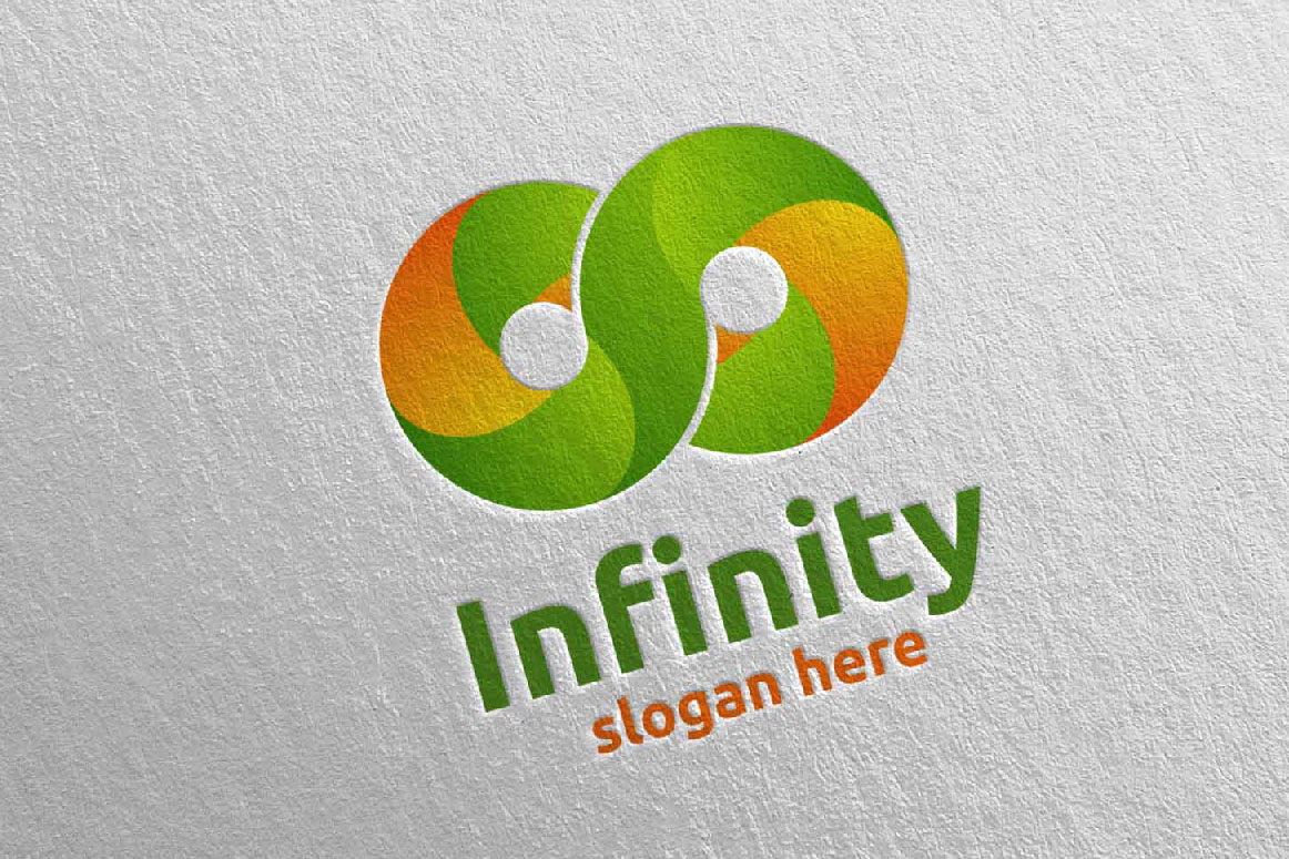 Infinity loop logo Design 12 example image 1