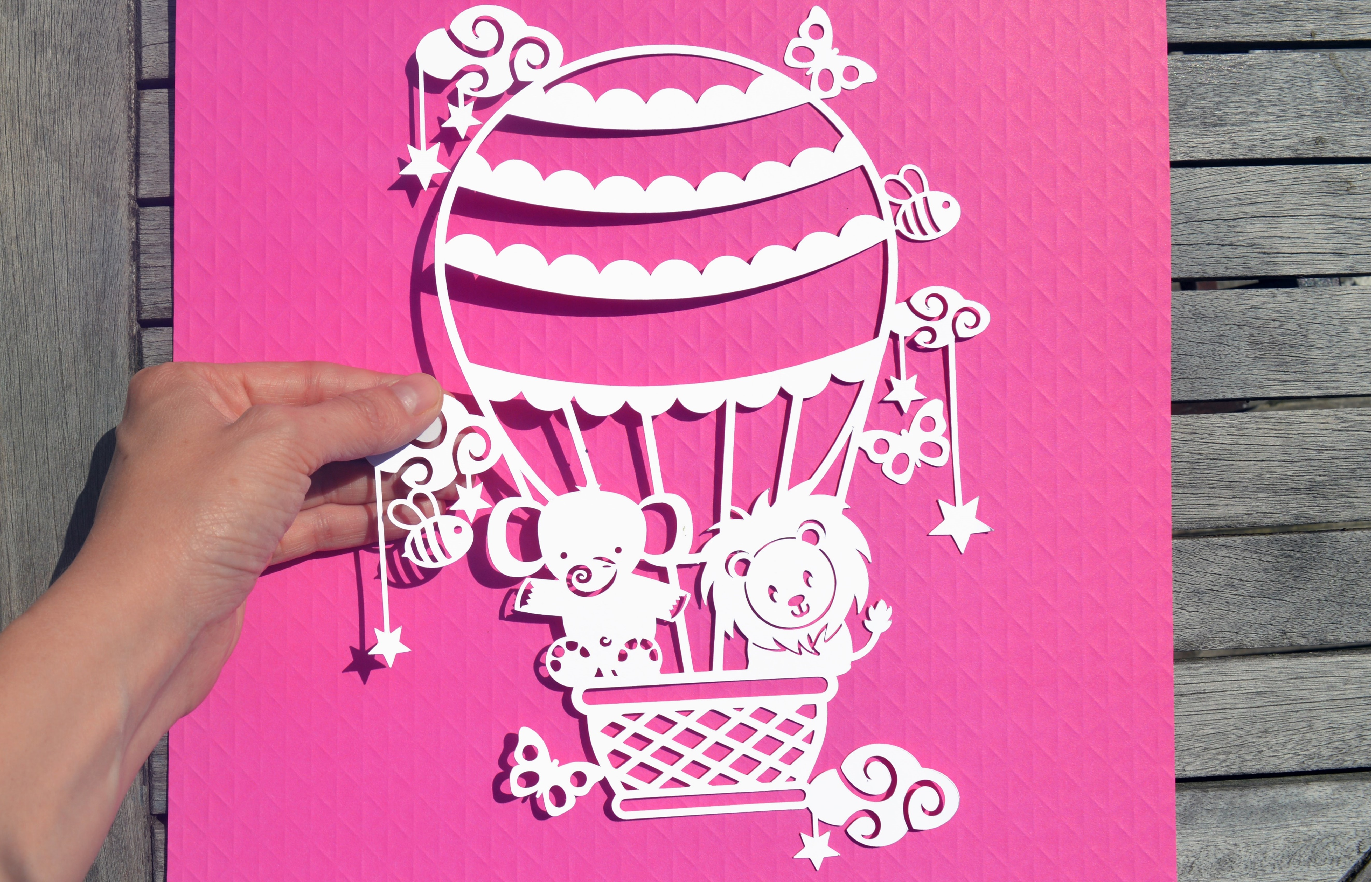 Hot Air Balloon SVG / DXF / EPS files example image 7