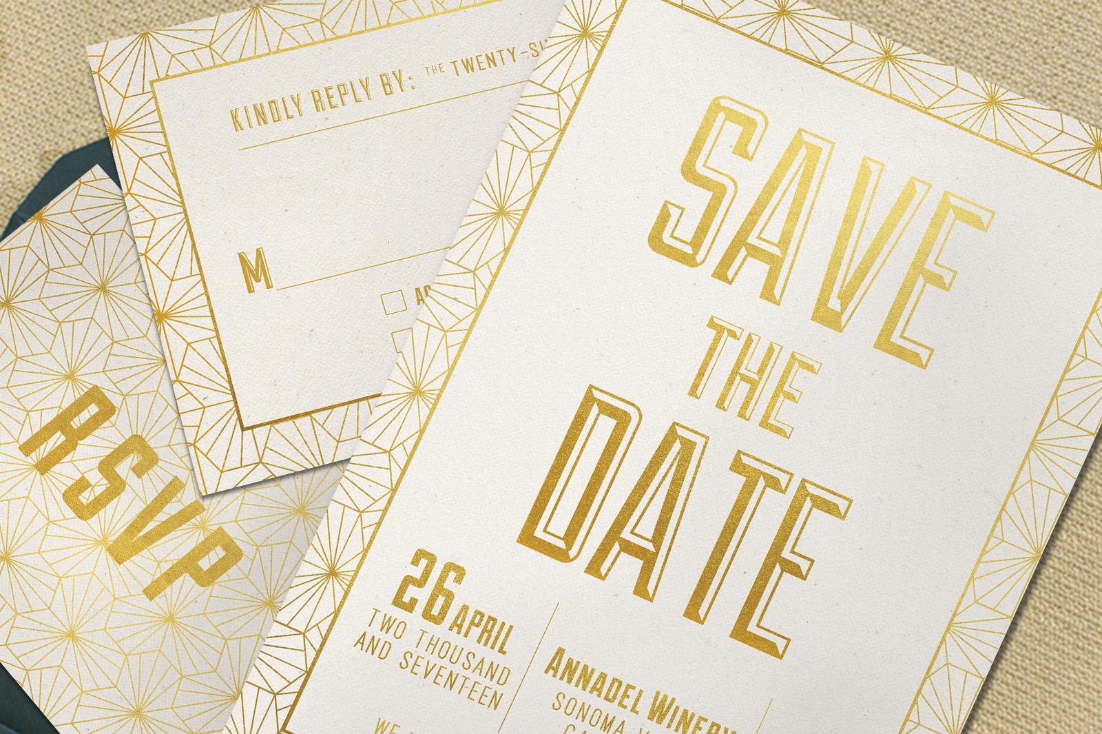Elegant Geometric Wedding Invitation example image 4