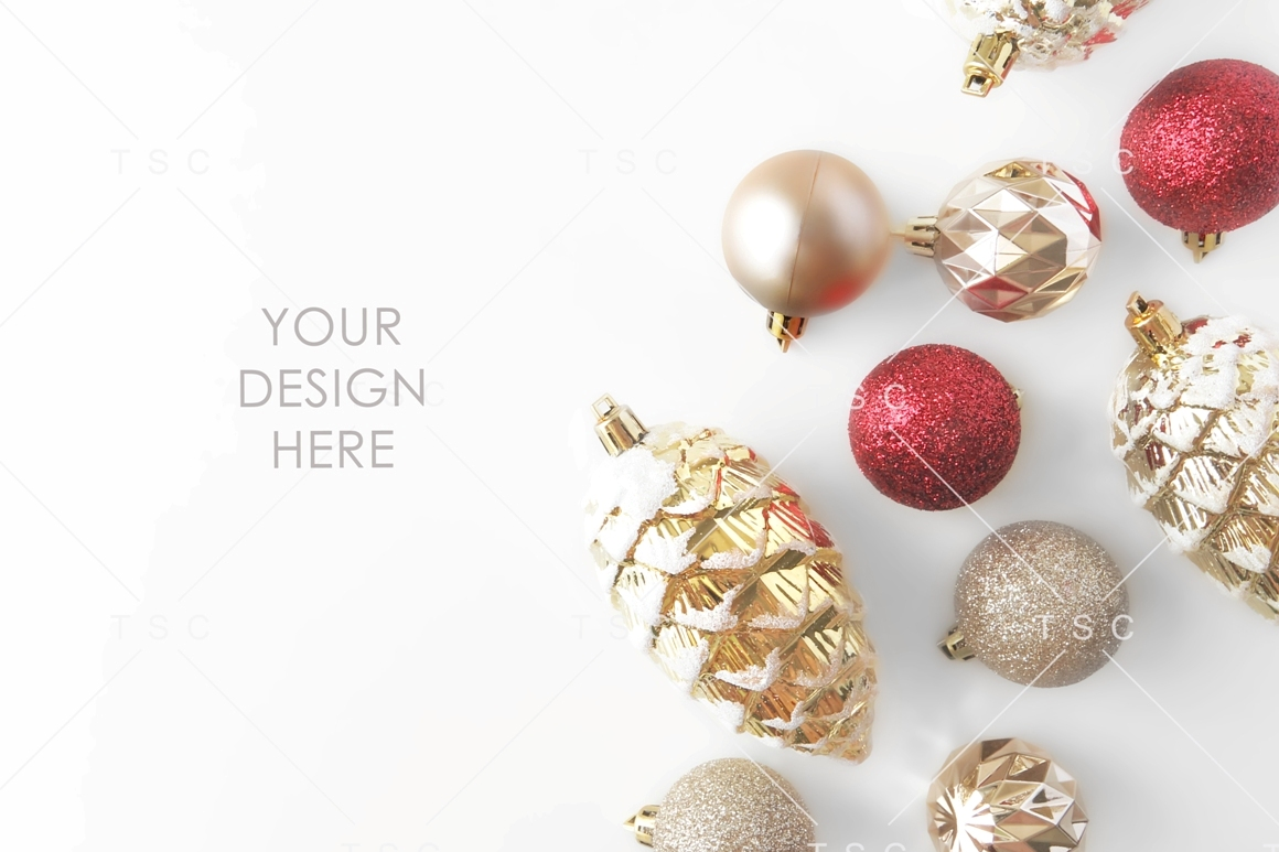 Red and Gold Christmas Stock Photo example image 1