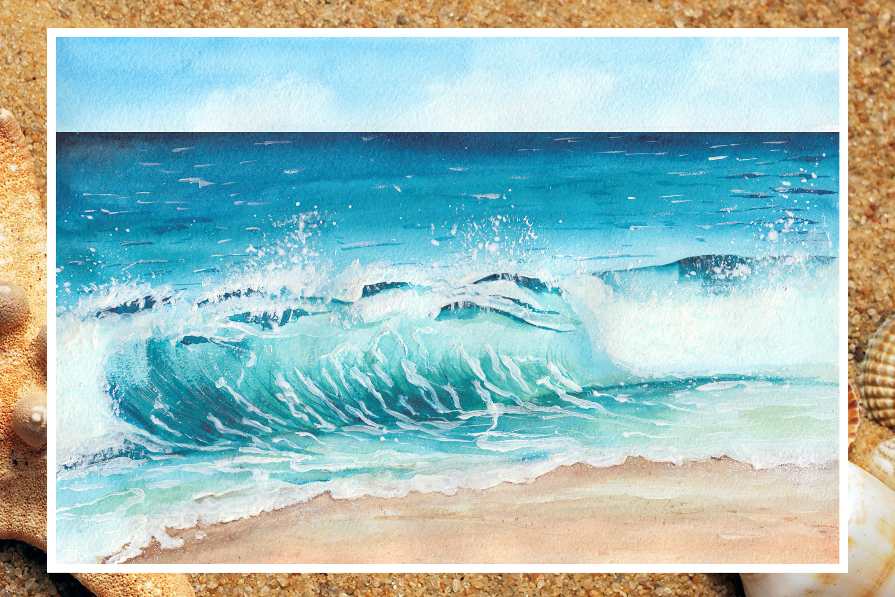 Watercolor seascapes example image 6