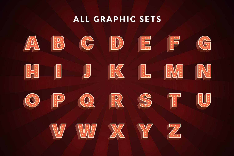 Motel Sign Alphabet Set example image 4