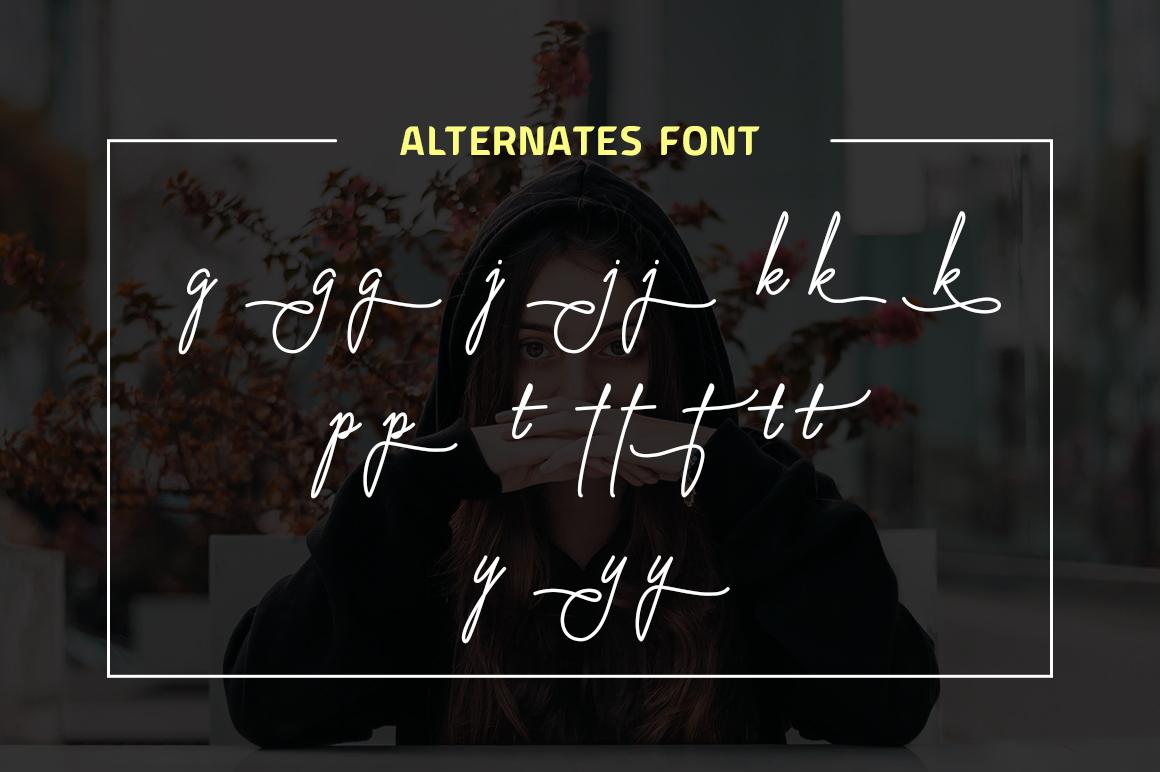 Virginia Od Script Font example image 8
