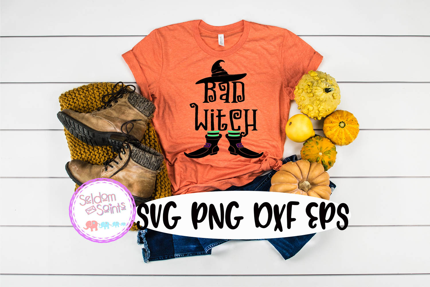 Bad Witch SVG PNG DXF EPS Cricut Cut File example image 1