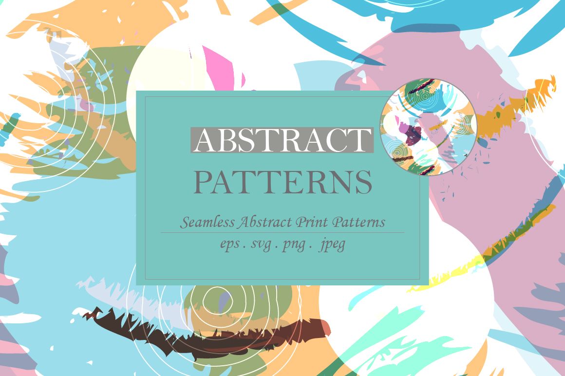 Abstract brush strokes patterns example image 3