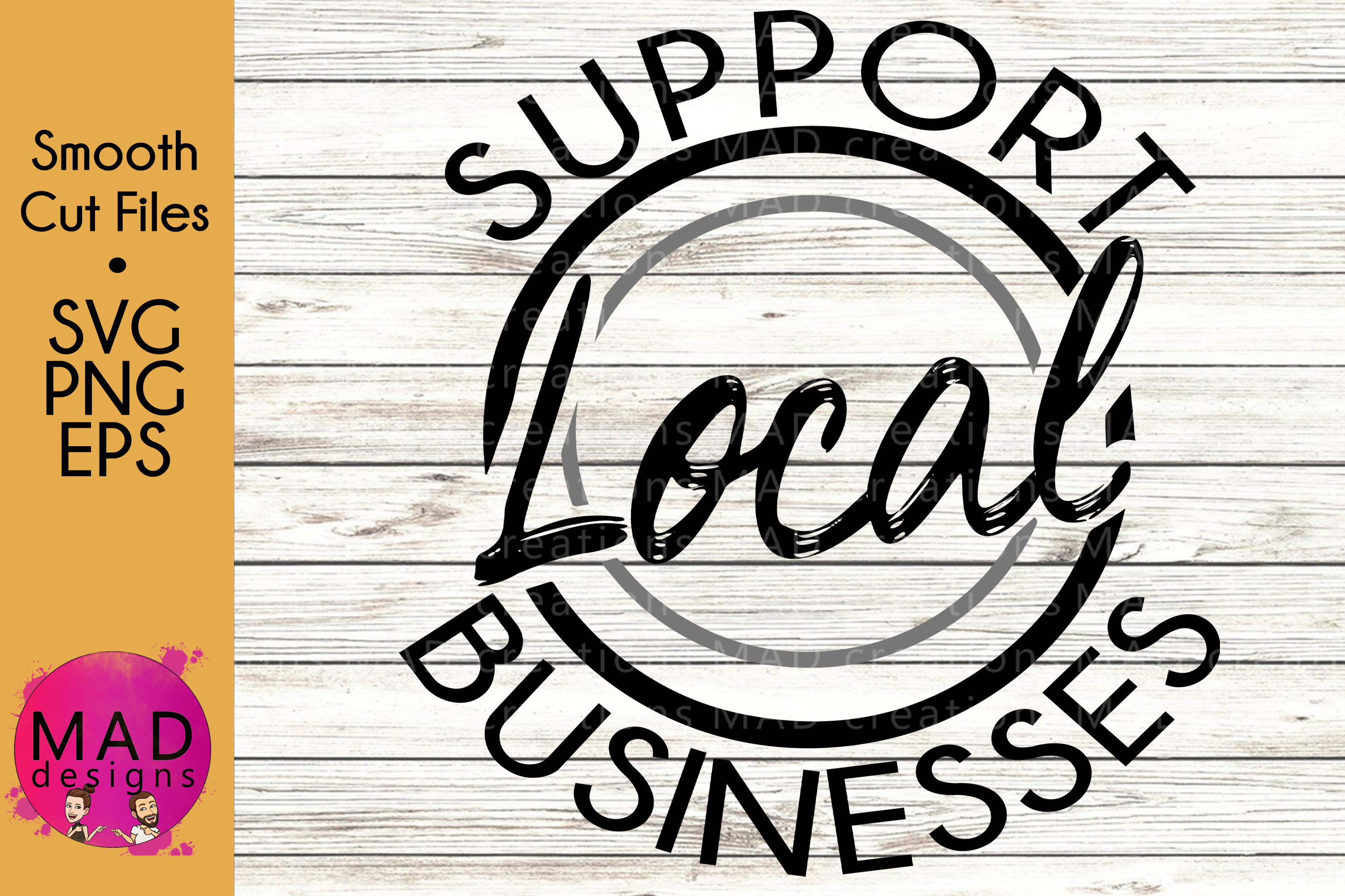 Support Local Businesses - SVG, PNG, EPS example image 1