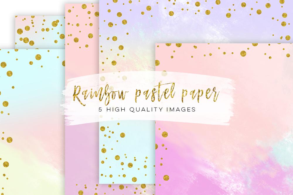 Digital scrapbook paper, Modern confetti gold prints, Gold Patterned paper, confetti border gold pastel paper, Paris paperie, pastel design example image 4