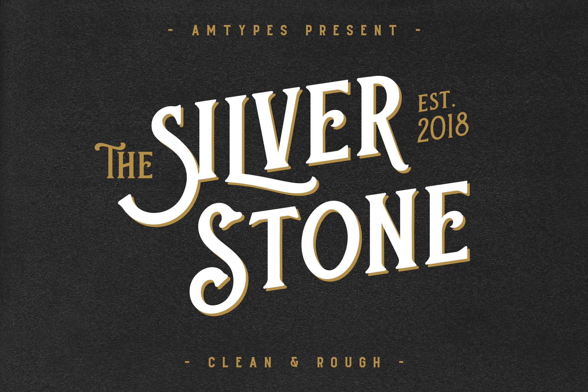 Silver Stone Font  Bonus example image 1