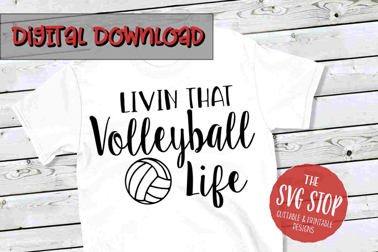 Volleyball Life SVG PNG DXF example image 1