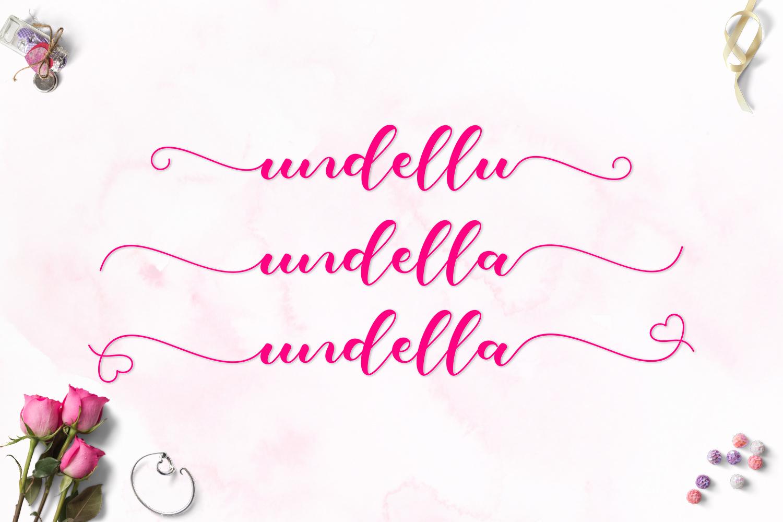 Undella Script example image 2