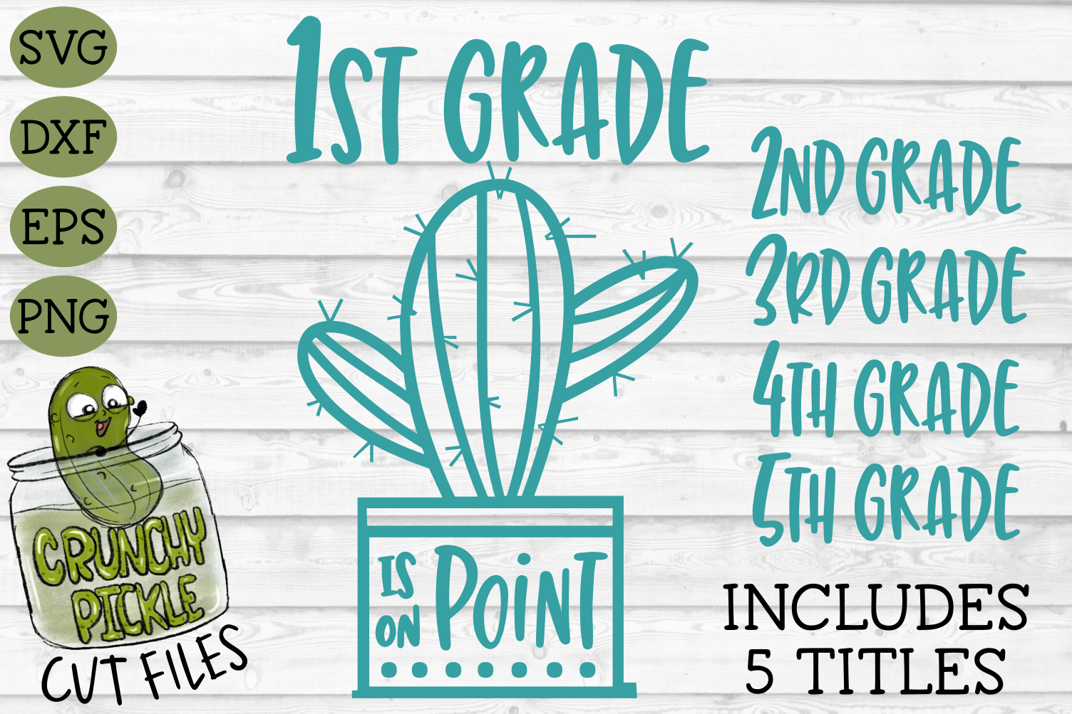 Cactus Grades On Point Elementary School SVG example image 1