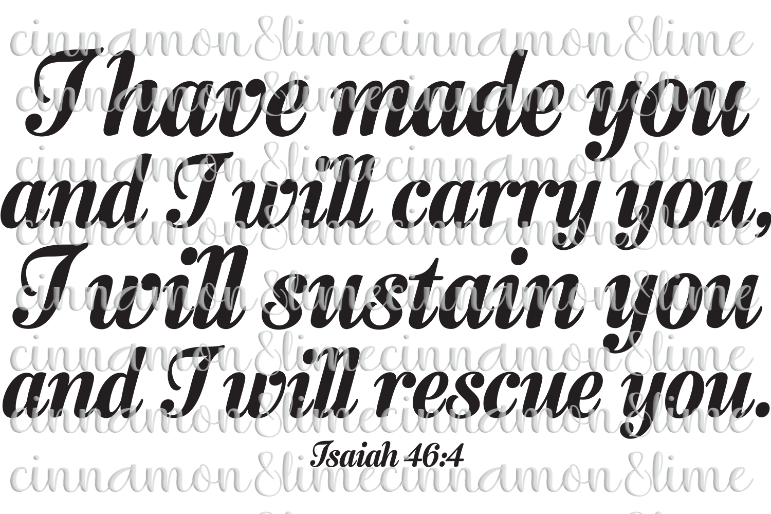 I Have Made You and I Will Carry You Christian SVG example image 1