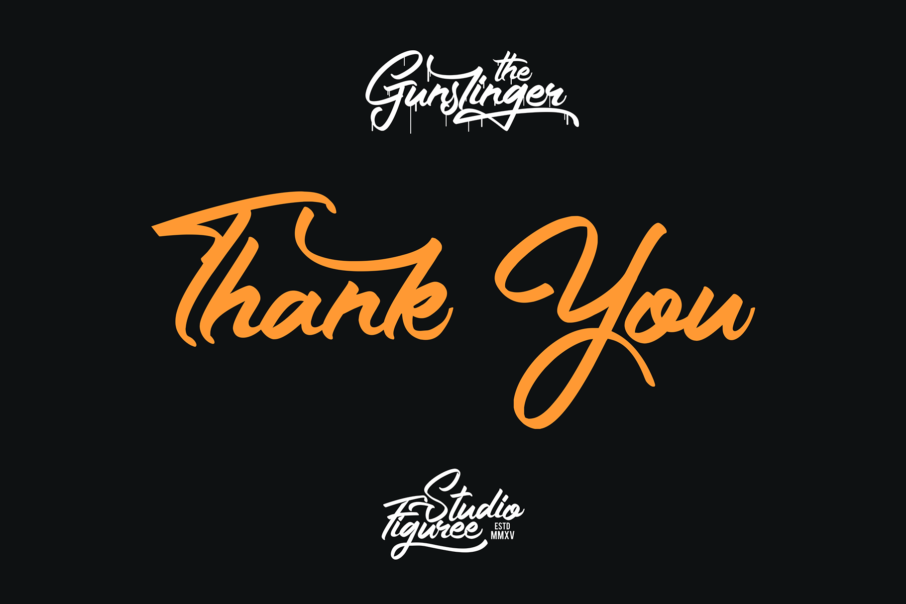 The Gunslinger - 3 Style Font example image 11