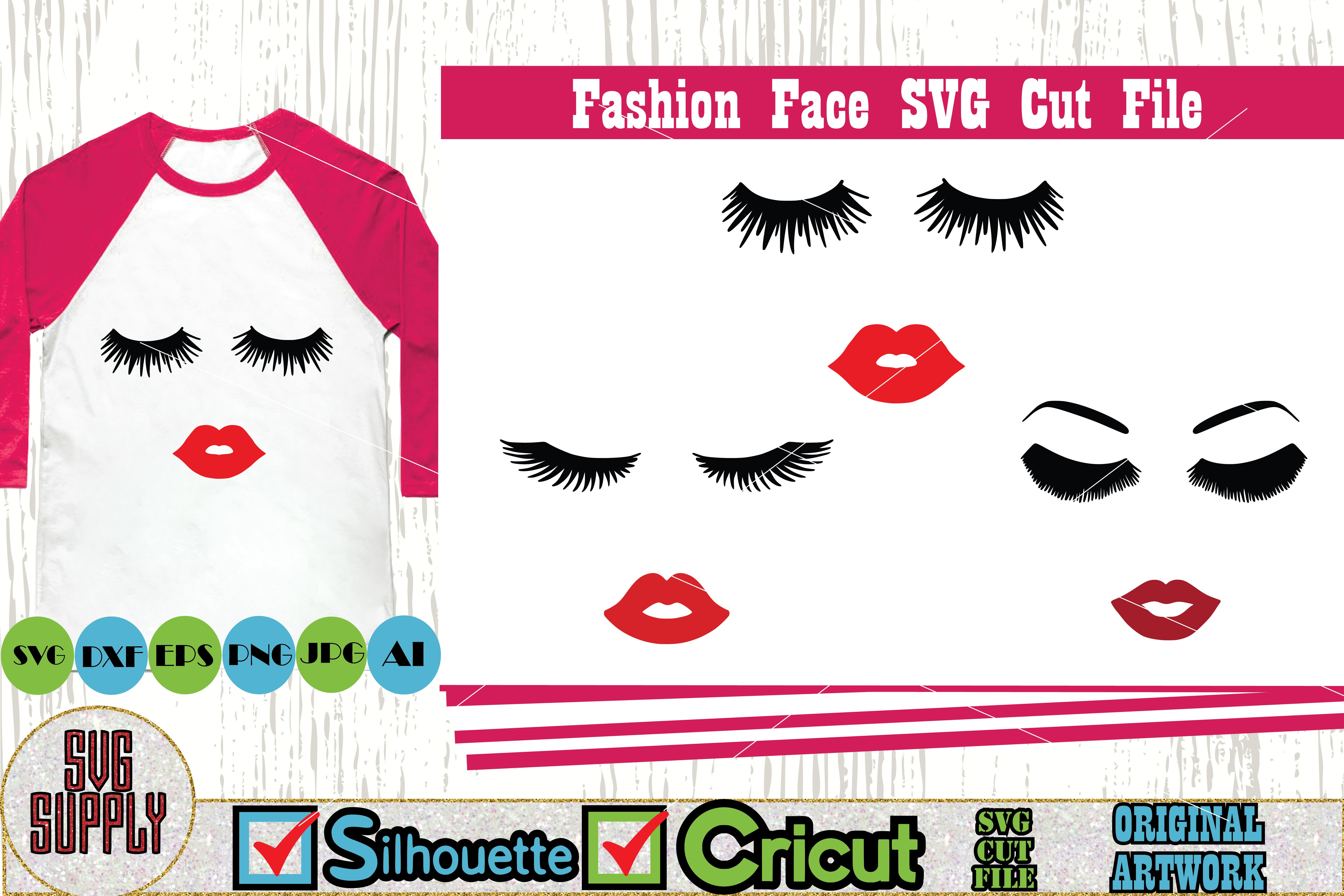 Fashion Face SVG Cut File example image 1