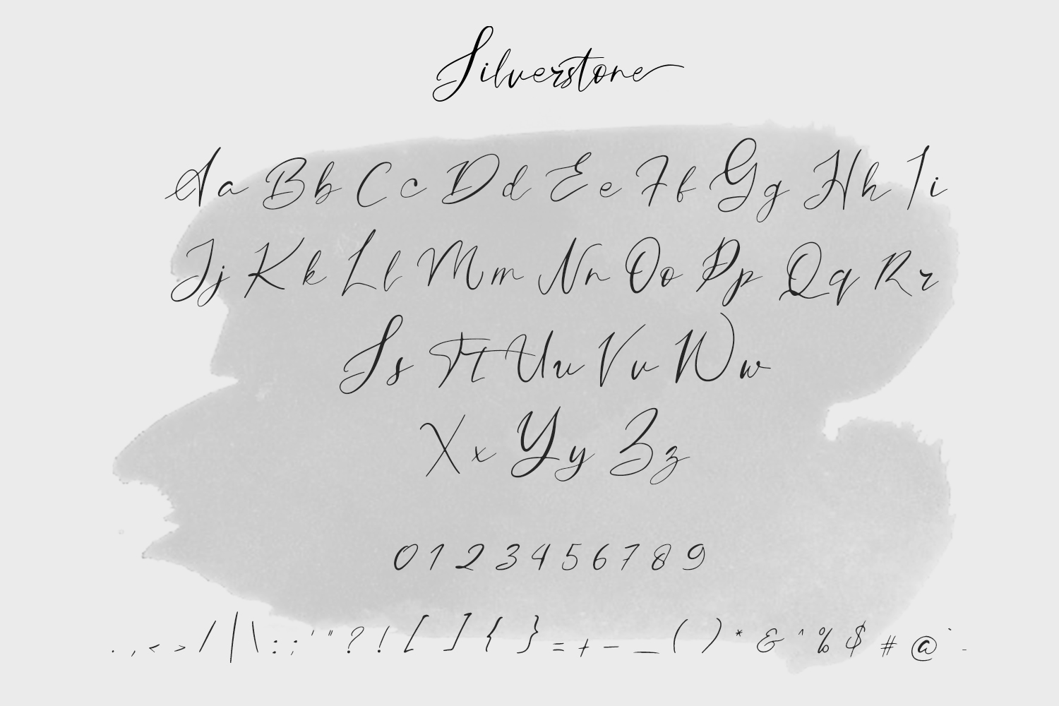 Silverstone Calligraphy Font example image 8