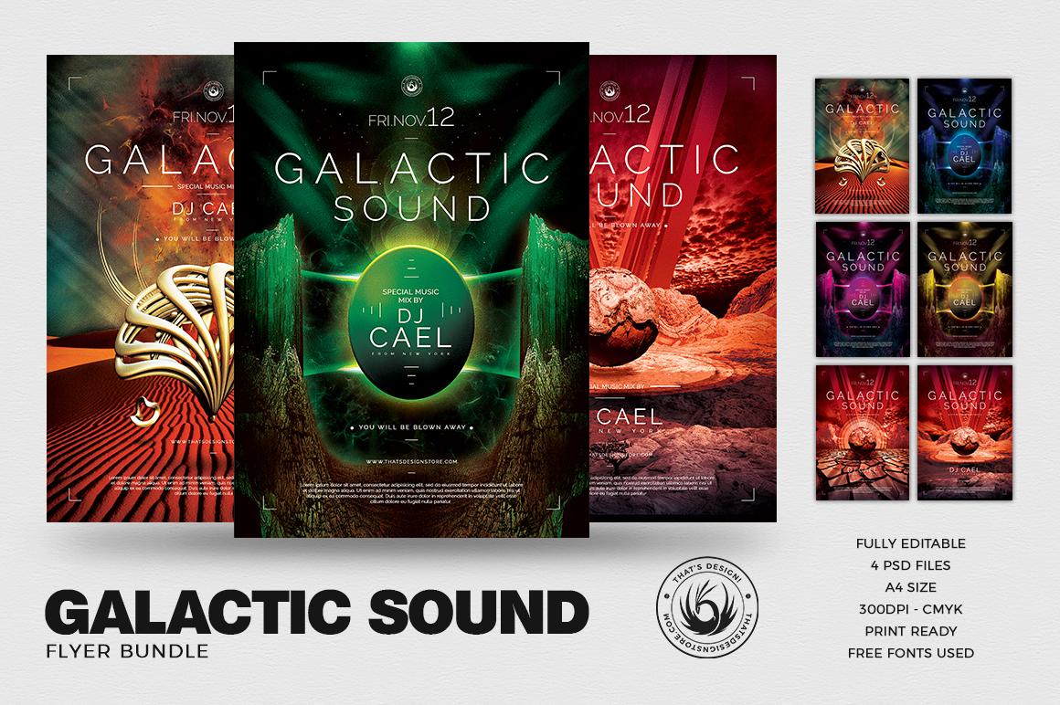 Galactic Sound Flyer Bundle example image 1