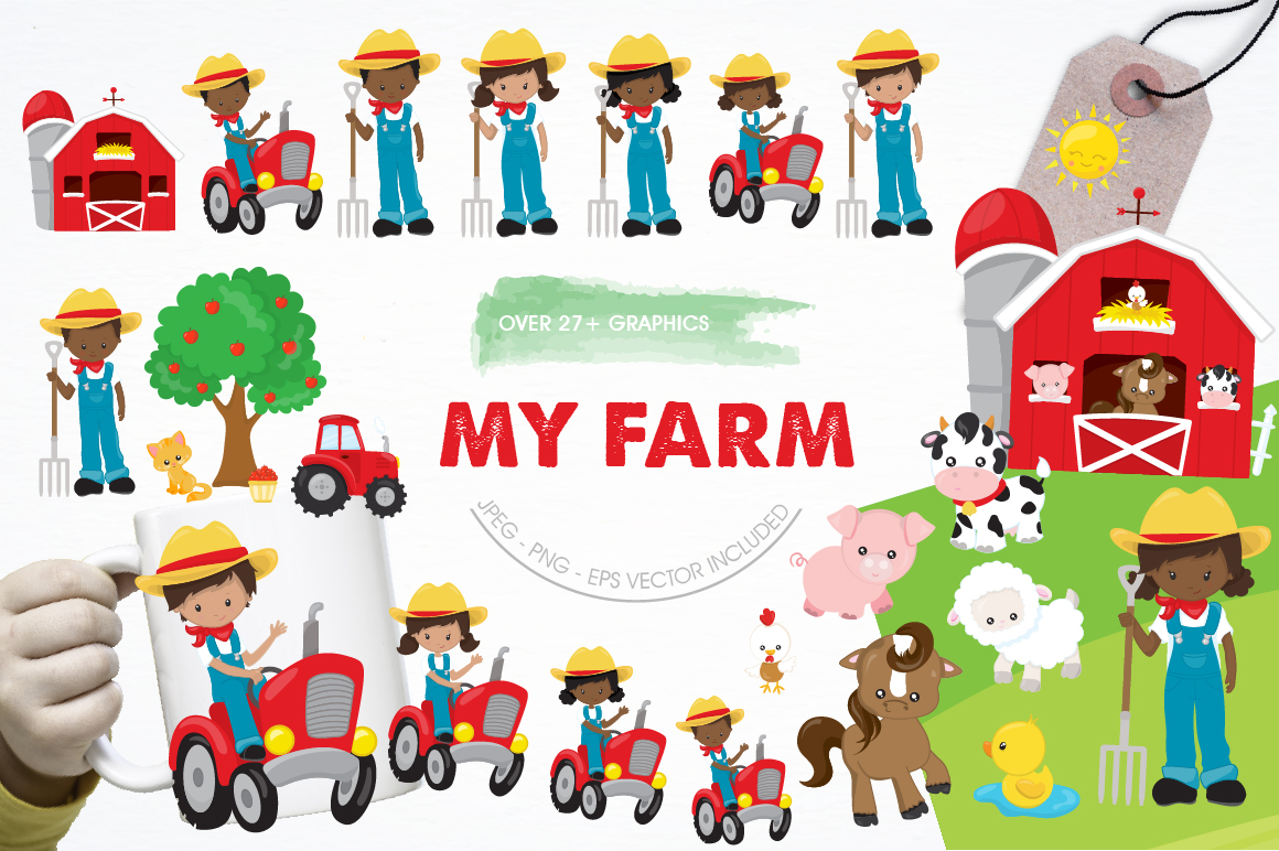 My Farm graphics and illustrations example image 1